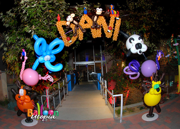 Animal Theme Balloon Arch