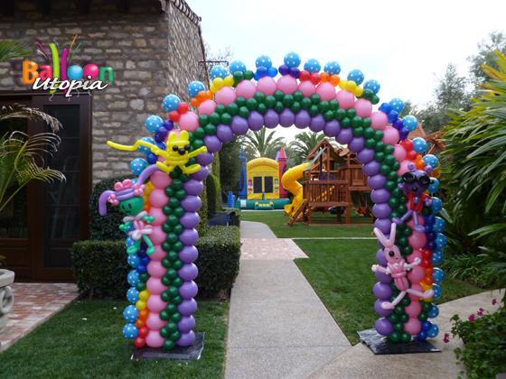 Wow Wow Wubzy Parody Balloon Arch